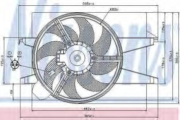 Вентилятор радиатора NISSENS 85030