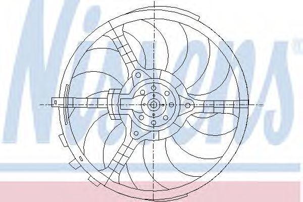 Вентилятор радиатора NISSENS 85036