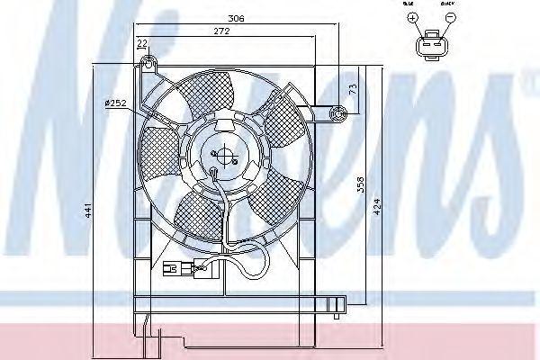 Вентилятор, охлаждение двигателя NISSENS 85751