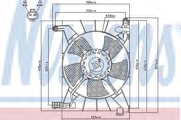Вентилятор радиатора NISSENS 85063