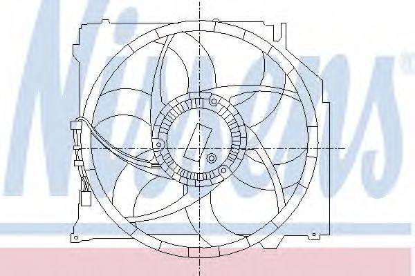 Вентилятор, охлаждение двигателя NISSENS 85066