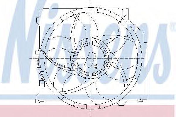 Вентилятор, охлаждение двигателя NISSENS 85067