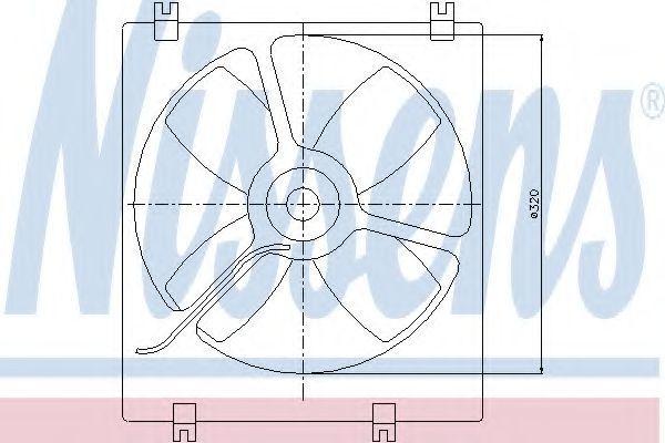 Вентилятор, охлаждение двигателя NISSENS 85070