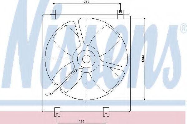 Вентилятор, охлаждение двигателя NISSENS 85071