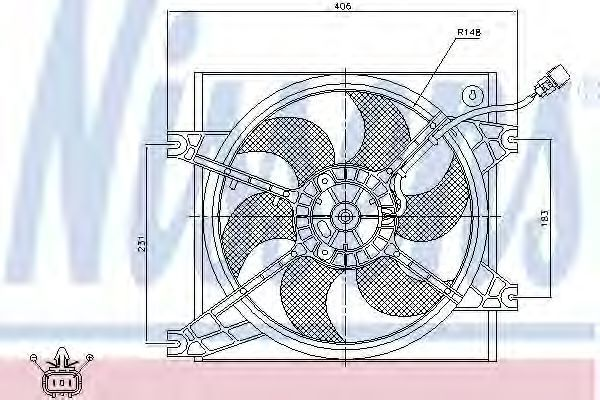 Вентилятор радиатора NISSENS 85085