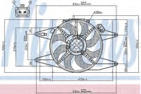 Вентилятор радиатора NISSENS 85105