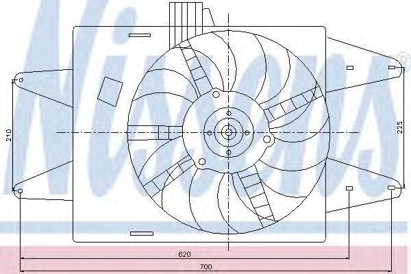 Вентилятор радиатора NISSENS 85126