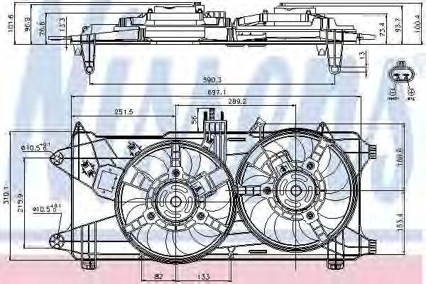 Вентилятор радиатора NISSENS 85130