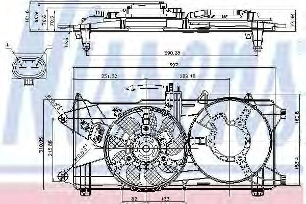 Вентилятор радиатора NISSENS 85131