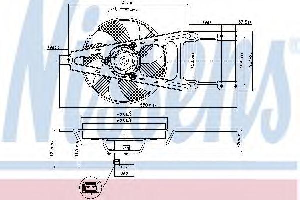 Вентилятор радиатора NISSENS 85134