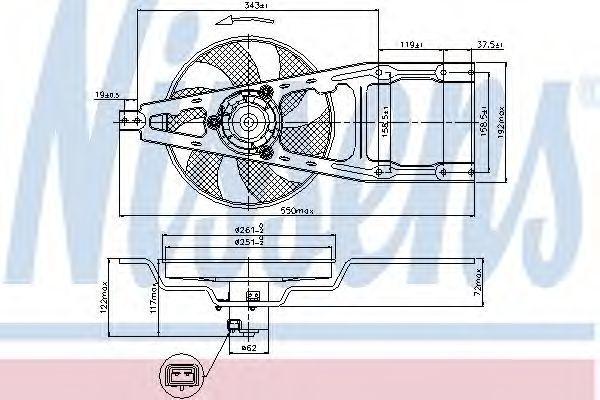 Вентилятор радиатора NISSENS 85135