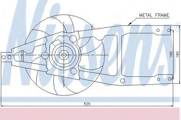 Вентилятор радиатора NISSENS 85139