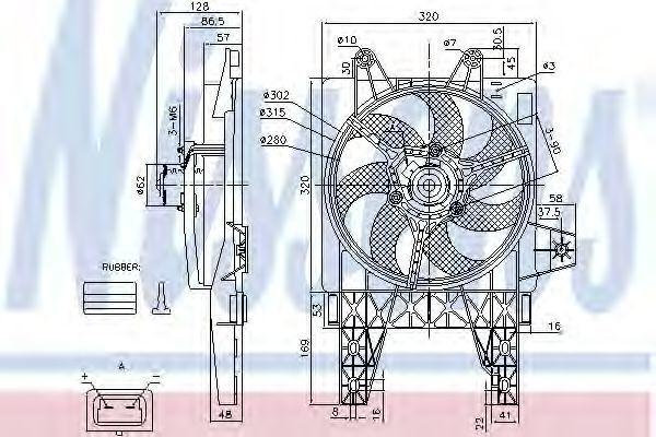 Вентилятор радиатора NISSENS 85140