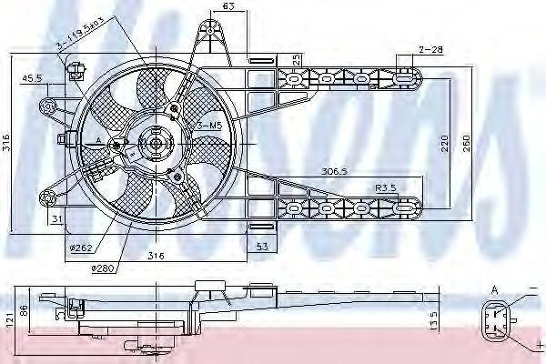 Вентилятор радиатора NISSENS 85141