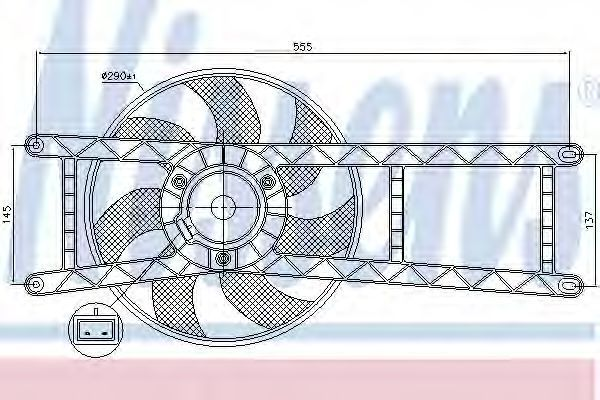 Вентилятор радиатора NISSENS 85145