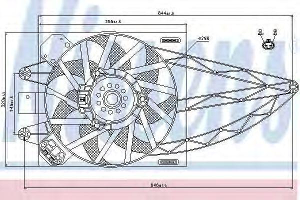 Вентилятор радиатора NISSENS 85150