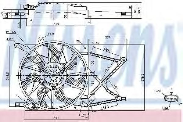 Вентилятор радиатора NISSENS 85154