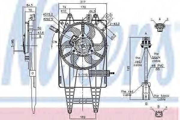 Вентилятор радиатора NISSENS 85162