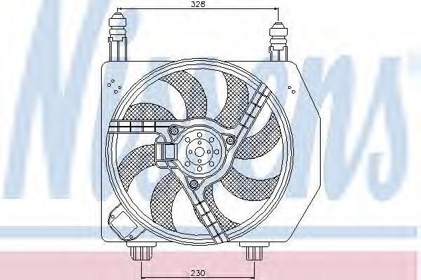 Вентилятор радиатора NISSENS 85172