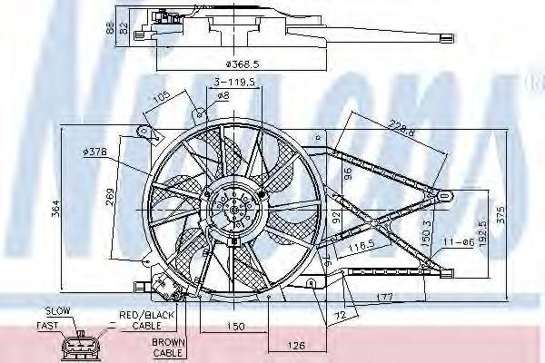 Вентилятор радиатора NISSENS 85179