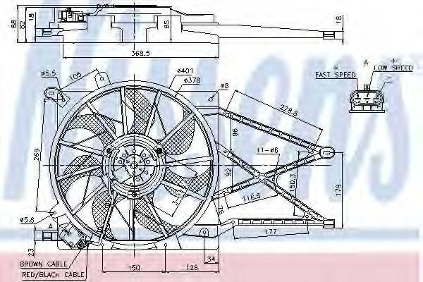 Вентилятор радиатора NISSENS 85185