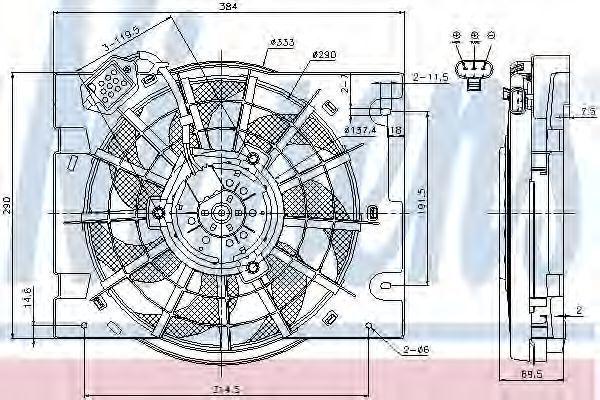 Вентилятор радиатора NISSENS 85186