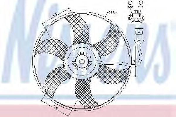 Вентилятор радиатора NISSENS 85194