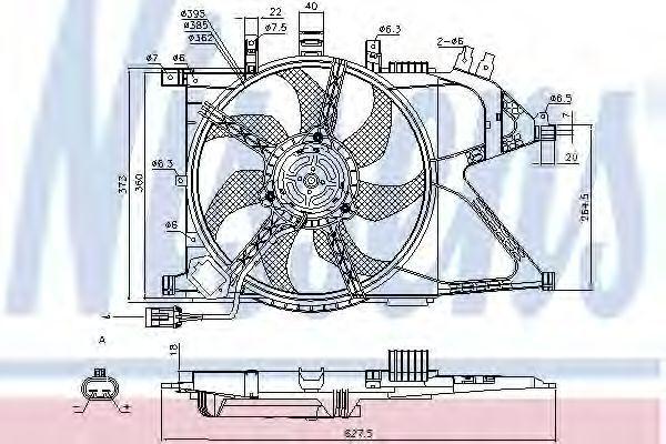 Вентилятор радиатора NISSENS 85196