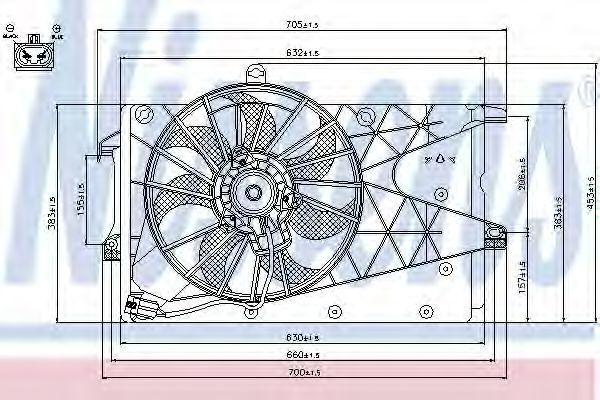 Вентилятор радиатора NISSENS 85199