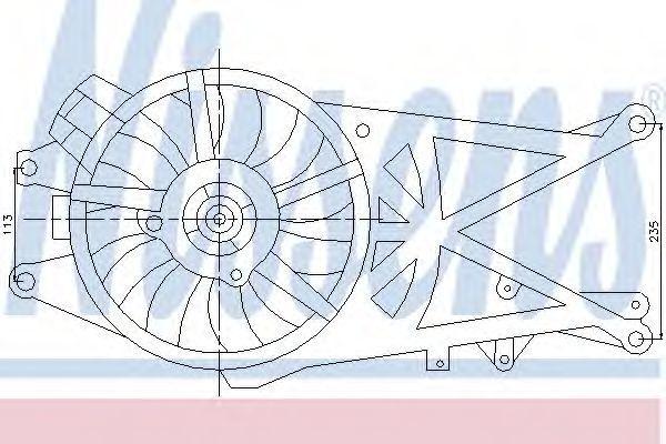 Вентилятор радиатора NISSENS 85204