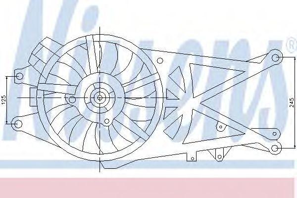 Вентилятор радиатора NISSENS 85205