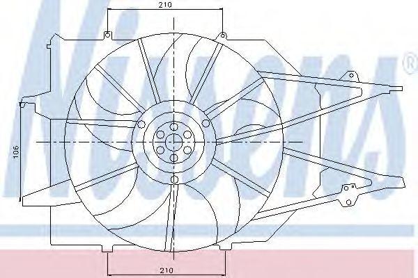 Вентилятор радиатора NISSENS 85213