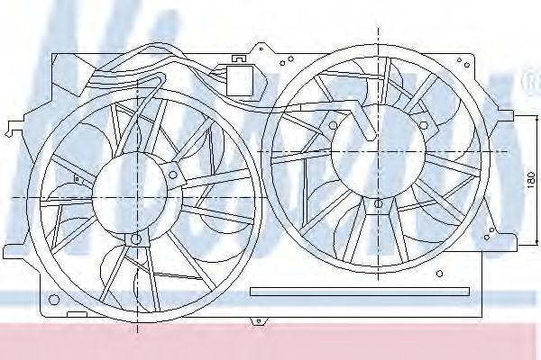 Вентилятор радиатора NISSENS 85214