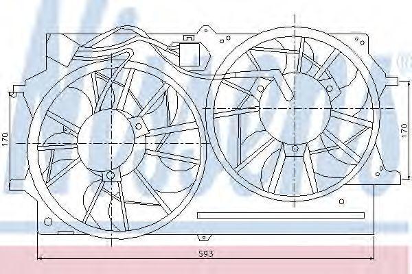 Вентилятор радиатора NISSENS 85215