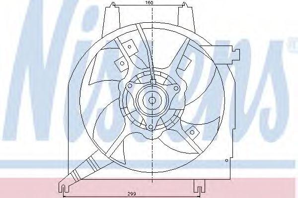 Вентилятор, охлаждение двигателя NISSENS 85218
