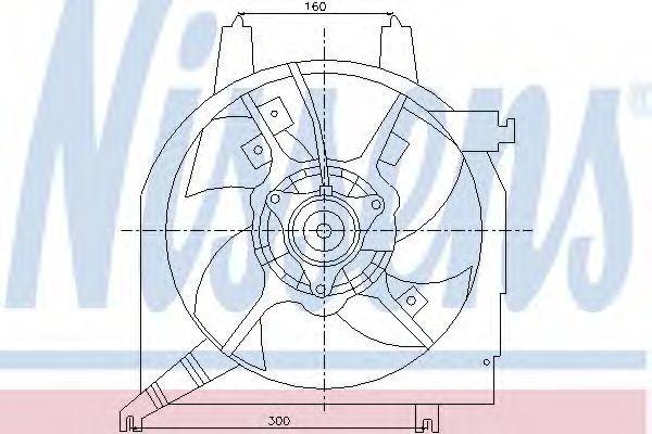 Вентилятор, охлаждение двигателя NISSENS 85219