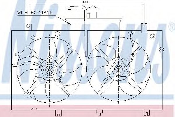 Вентилятор радиатора NISSENS 85221