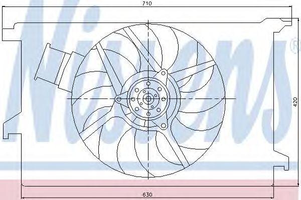 Вентилятор радиатора NISSENS 85243
