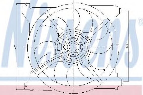 Вентилятор радиатора NISSENS 85265