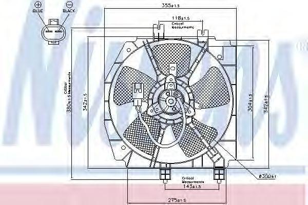 Вентилятор, охлаждение двигателя NISSENS 85274