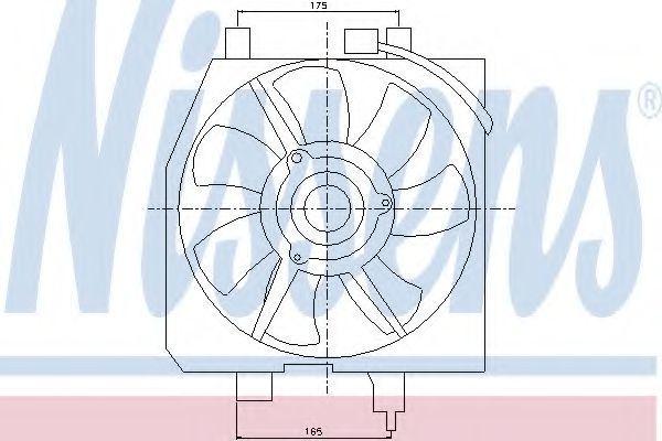 Вентилятор, конденсатор кондиционера NISSENS 85275
