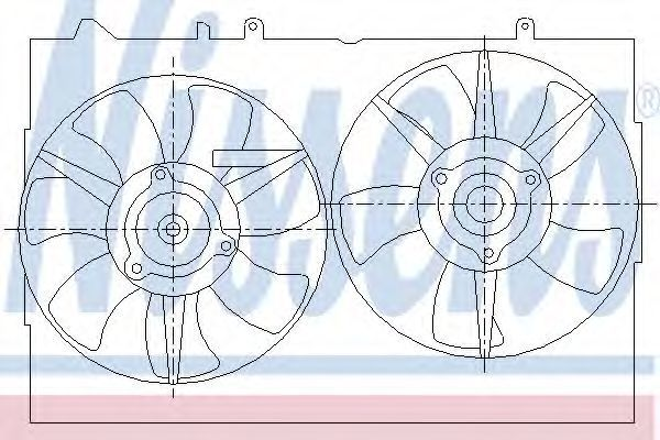 Вентилятор, охлаждение двигателя NISSENS 85276