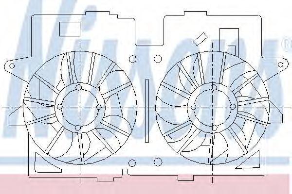 Вентилятор, охлаждение двигателя NISSENS 85278