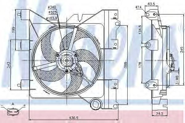 Вентилятор радиатора NISSENS 85316
