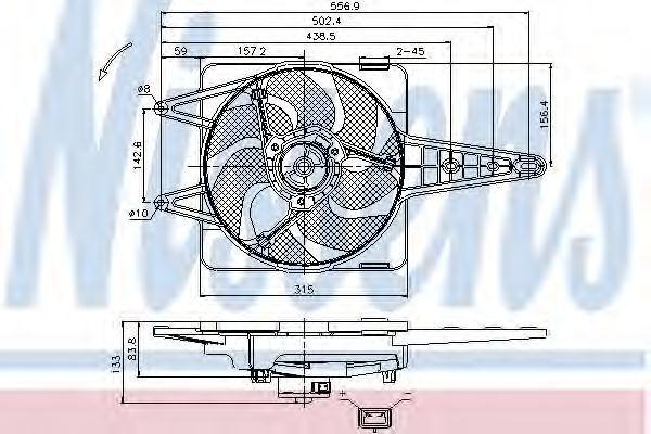 Вентилятор радиатора NISSENS 85341