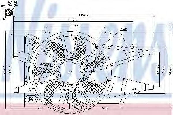 Вентилятор радиатора NISSENS 85342