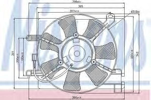 Вентилятор радиатора NISSENS 85347