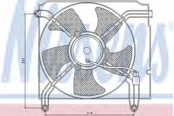 Вентилятор радиатора NISSENS 85349