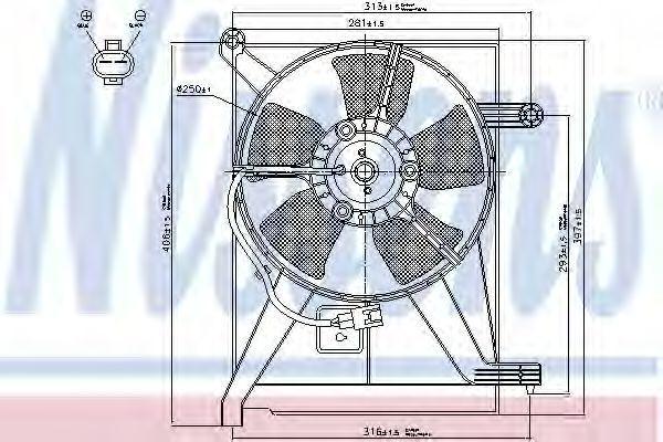 Вентилятор радиатора NISSENS 85351