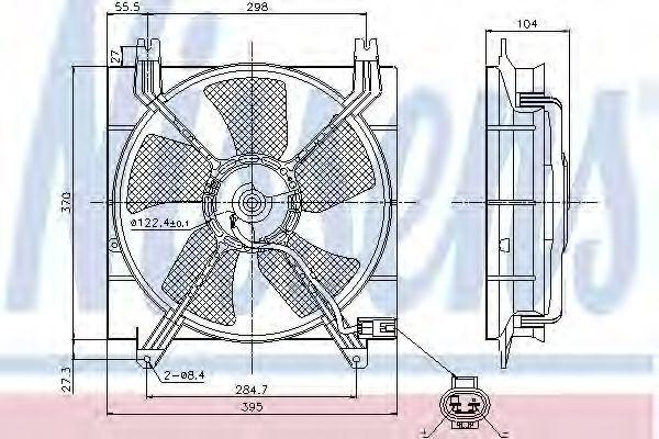 Вентилятор радиатора NISSENS 85353
